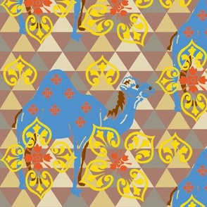 Camels Decorations-blue brown