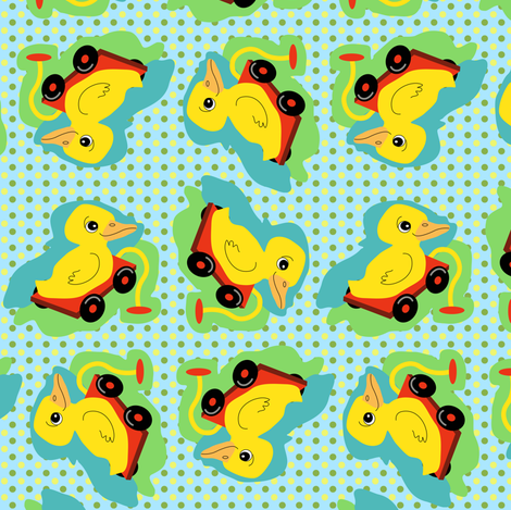 See Me Rolling Duckie fabric by eclectic_house on Spoonflower - custom fabric