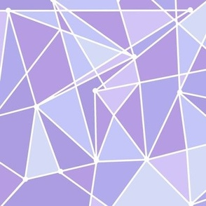 Purple Geometric Wall Large