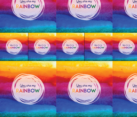 Rainbow-Child-1_1-baby-and-2-loveys fabric by ascholzendesigns on Spoonflower - custom fabric
