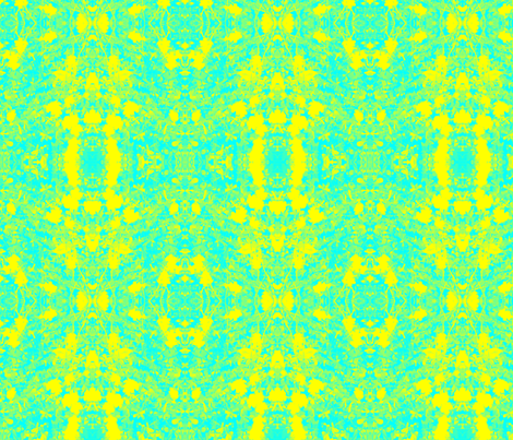 Psychedelic Sour Grass (blue and yellow) fabric by uberdesigns on Spoonflower - custom fabric