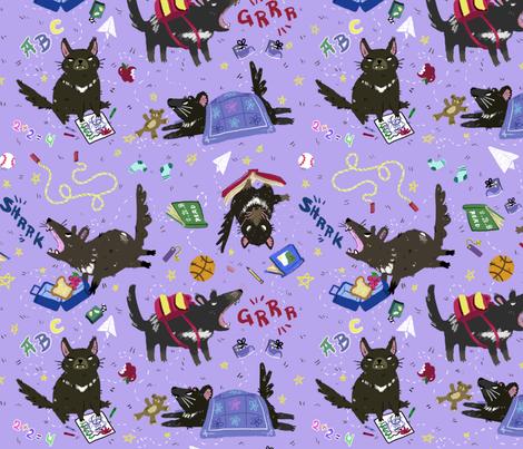 Tasmanian Devil Preschool fabric by creativetea on Spoonflower - custom fabric