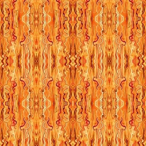 BFM8 - Orange Butterfly Marble Brocade