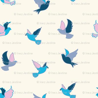 Pink and Aqua Birds