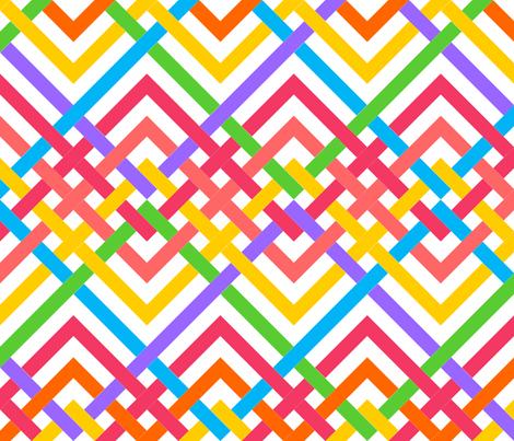 folded rainbow fabric by hannafate on Spoonflower - custom fabric