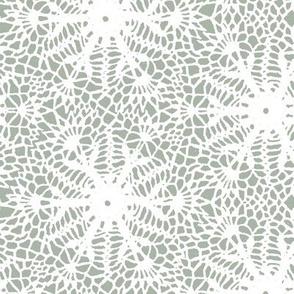 crocus snowflake pale green white