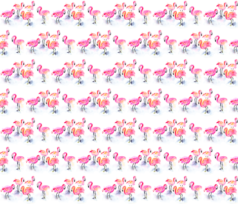 A flamboyance of flamingos! fabric by kendrashedenhelm on Spoonflower - custom fabric