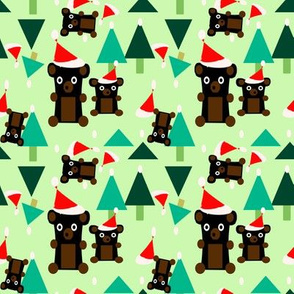 bears holiday copy green