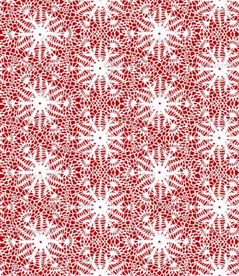 crocus snowflake red white