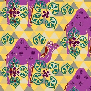Camels Decorations-purple yellow