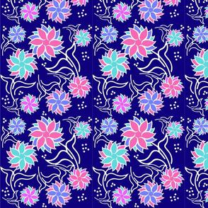 Geo Flower  Blue