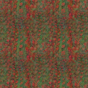 Red Poppy Fields Abstract