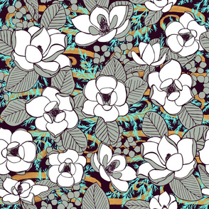 Elegant Magnolia Blossoms, XL
