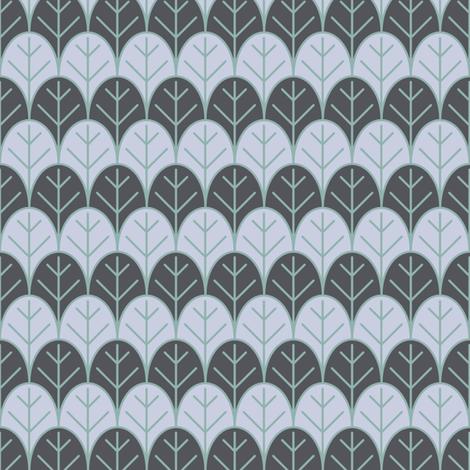 gray leaves rows fabric by farreystudio on Spoonflower - custom fabric