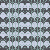 gray leaves rows