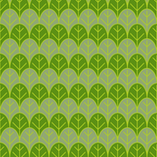 green leaves rows