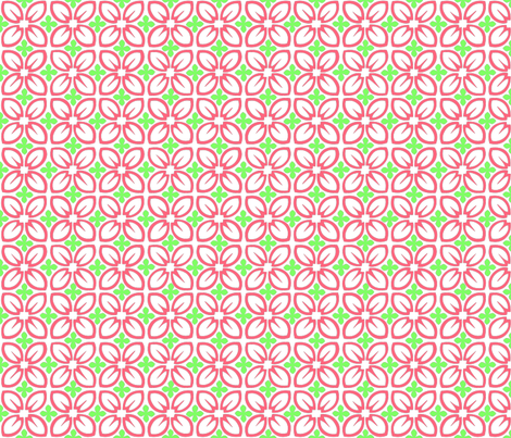 Aloha Petals Coral fabric by madtropic on Spoonflower - custom fabric