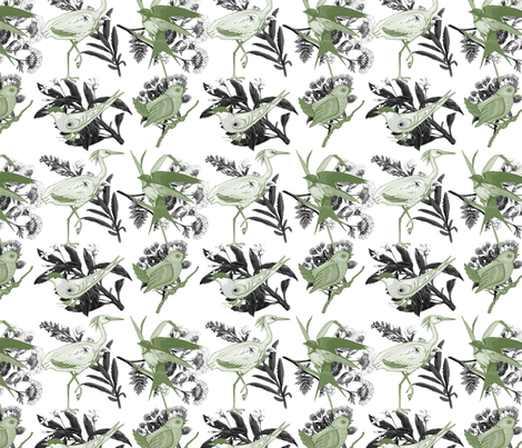 Vintage Summer Patio fabric by whimsicalvigilante on Spoonflower - custom fabric