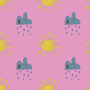bits - Sun and Cloud pink