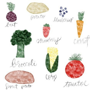 Fruits and Vegetables from the Farm