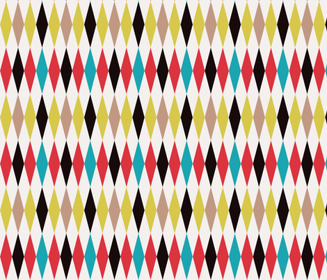 Harlequin fabric by 50s_vintage_dame on Spoonflower - custom fabric