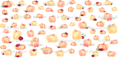 Small Scale Floral Pumpkins