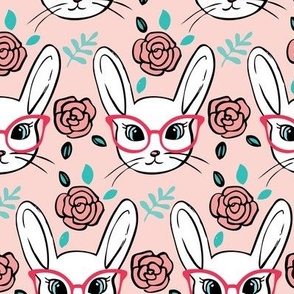 Bespectacled bunny