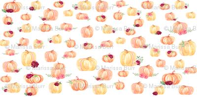 Mini Scale Floral Pumpkins