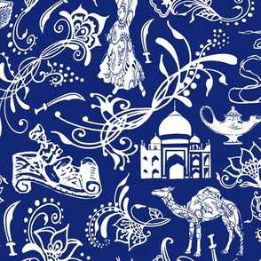 Arabian Nights on Midnight Blue // Large-size
