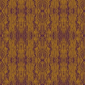BFM10 - Gold and Purple Butterfly Marble Brocade