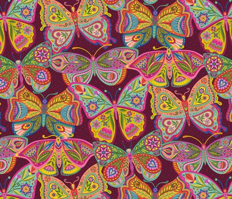 Float Like a Butterfly! fabric by groovity on Spoonflower - custom fabric