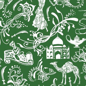 Arabian Nights on Parsley Green // Large