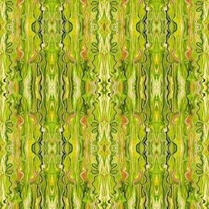 BFM3 - Lime Butterfly Marble Brocade