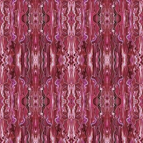 BFM7 - Raspberry Butterfly Marble Brocade