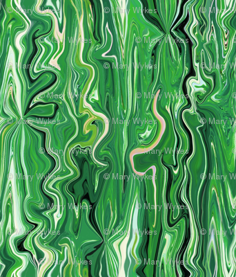 BFM14 -  Spring Green Butterfly Marble Brocade