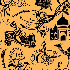 Arabian Nights on Light Orange // Jumbo-size