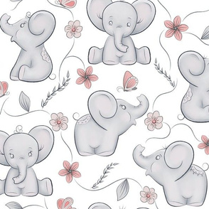 Cute little elephants