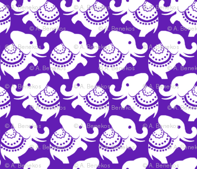 Della White Elephants - Purple