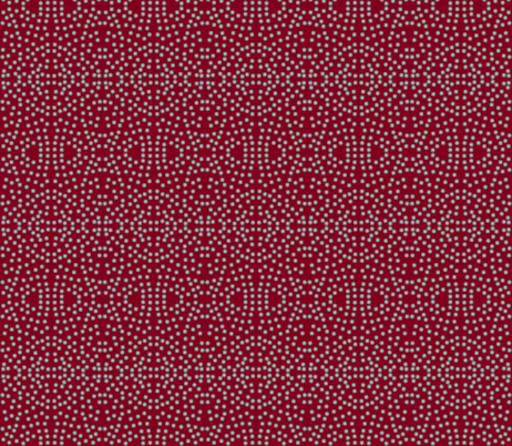 A Lacy Mesh of Twinkling Dots on Burgundy - Medium Scale fabric by rhondadesigns on Spoonflower - custom fabric