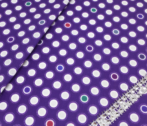 Jeweled Elephant Dots - Dark Violet