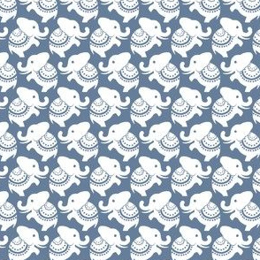 Della White Elephants - Cadet Blue