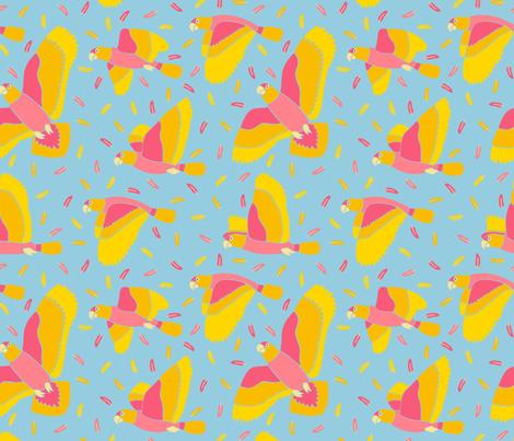 Flock of Parrots fabric by willowbirdstudio on Spoonflower - custom fabric
