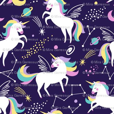 Space unicorns - navy