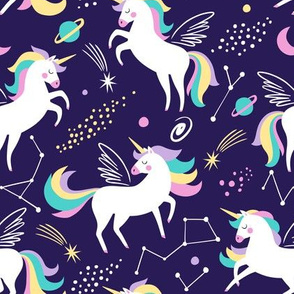 Space unicorns - navy