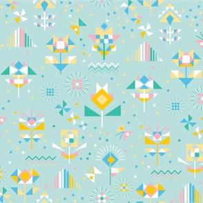 geo florals_circus