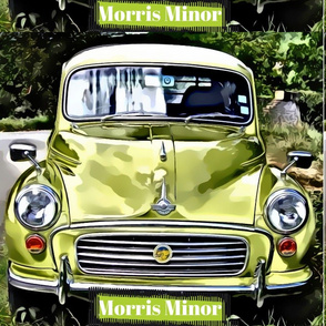 Green Morris Minor Large