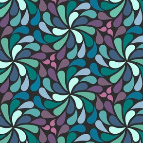 In a Spin 70s medium navy purple green