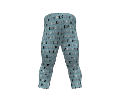 Alphabet pattern blue