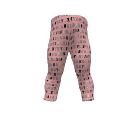 Alphabet pattern  pink