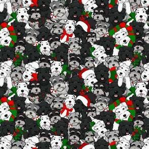 Small Schnauzer Christmas Collage